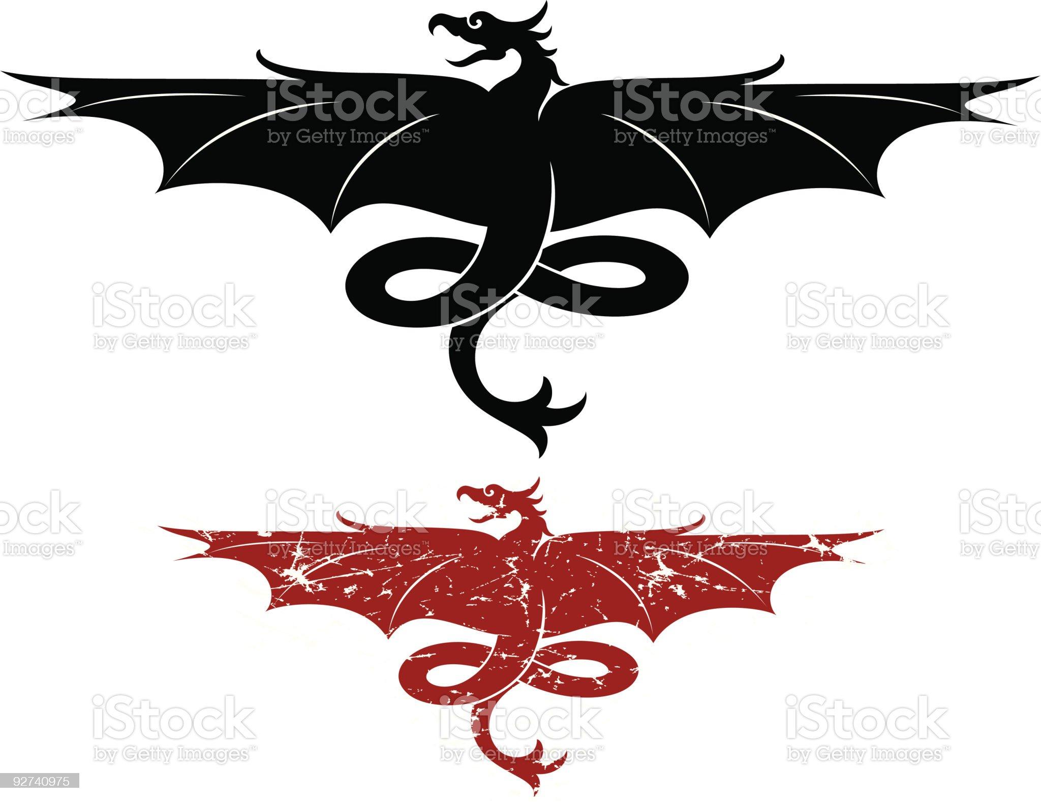 Vector Dragon Design royalty-free stock vector art