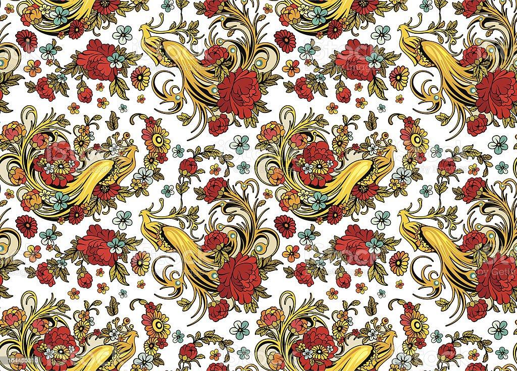 Vector Eastern Seamless Ornament Wallpaper royalty-free stock vector art