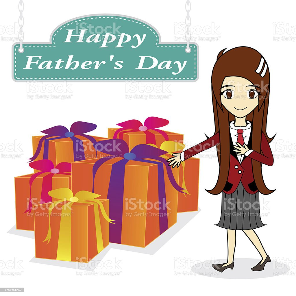 vector father day on white background royalty-free stock vector art