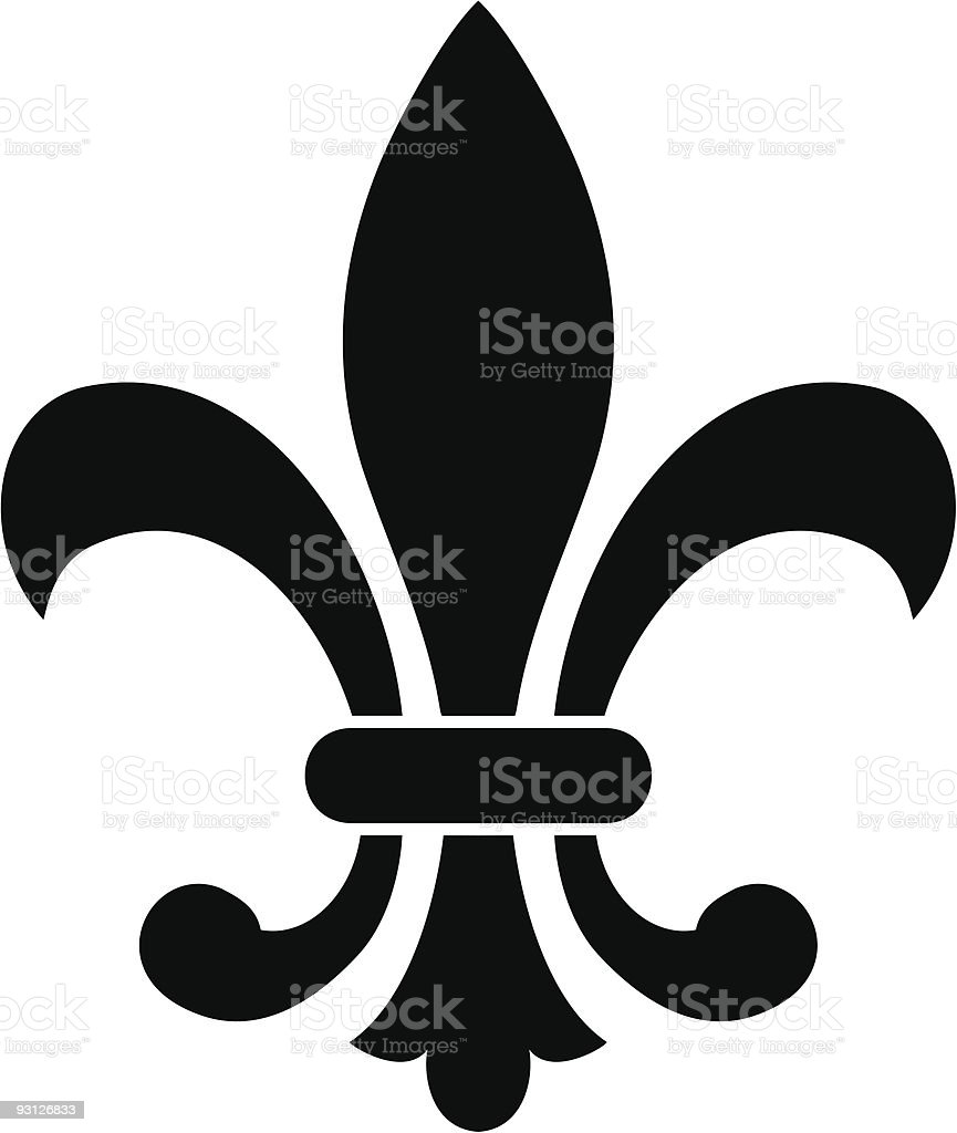 Vector fleur de lys royalty-free stock vector art