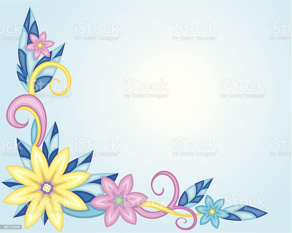 Vector Floral Background vector art illustration