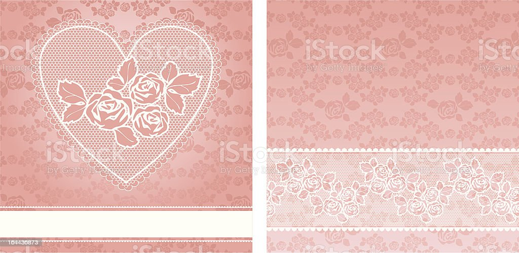 vector floral background, with lace for greeting card. royalty-free stock vector art