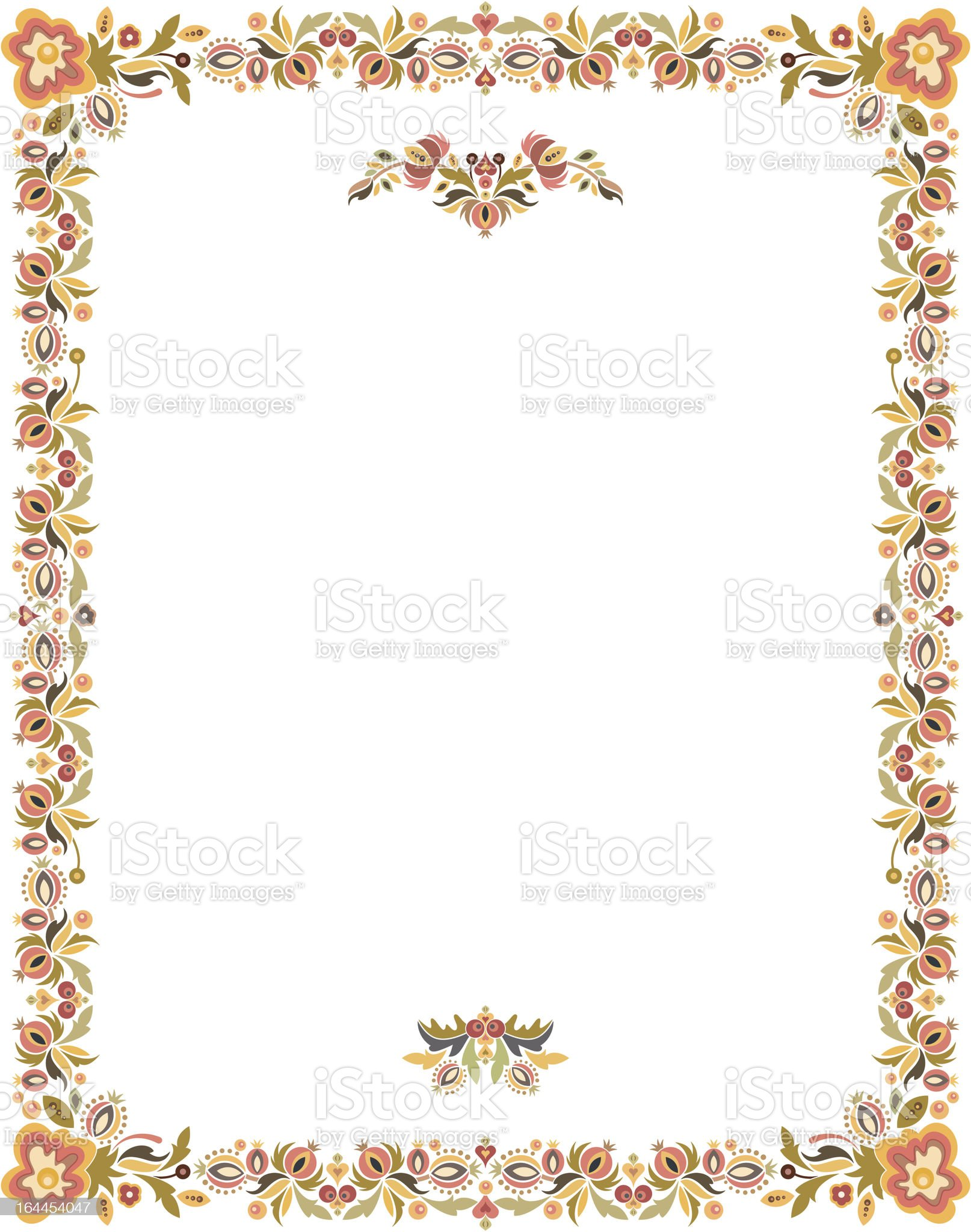 Vector Floral Frame royalty-free stock vector art