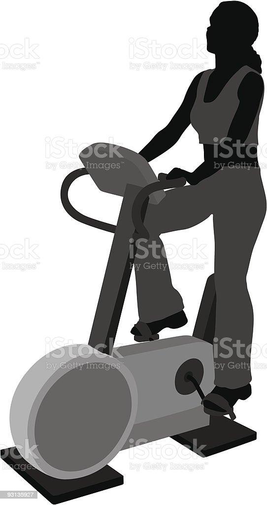 vector girl on bicicle vector art illustration