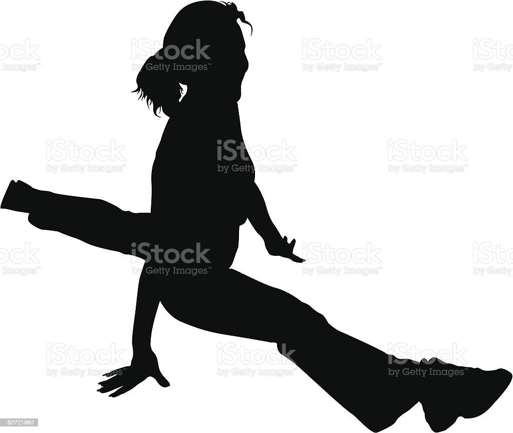 vector Girl. splits. health club royalty-free stock vector art