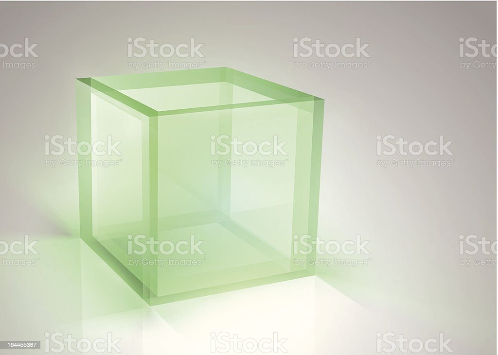 Vector Glass Box vector art illustration