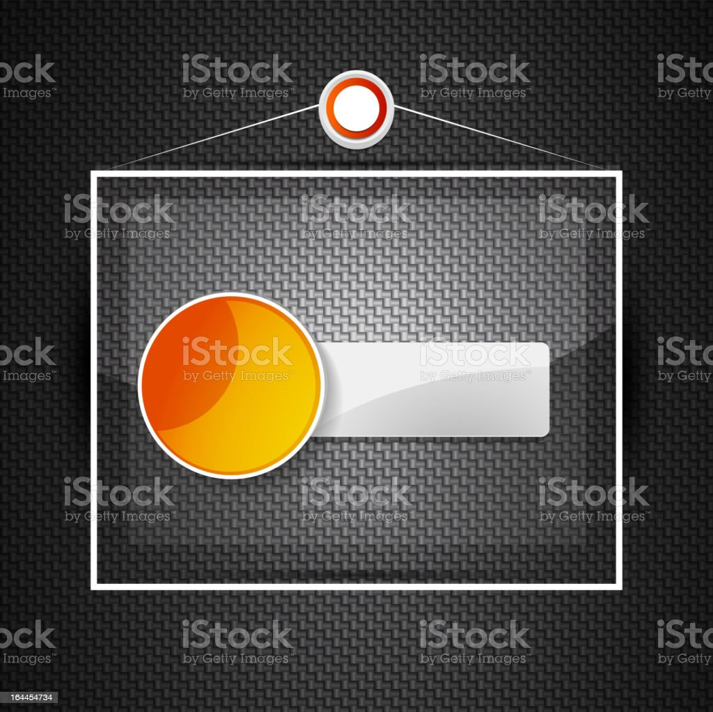 Vector glass plate royalty-free stock vector art