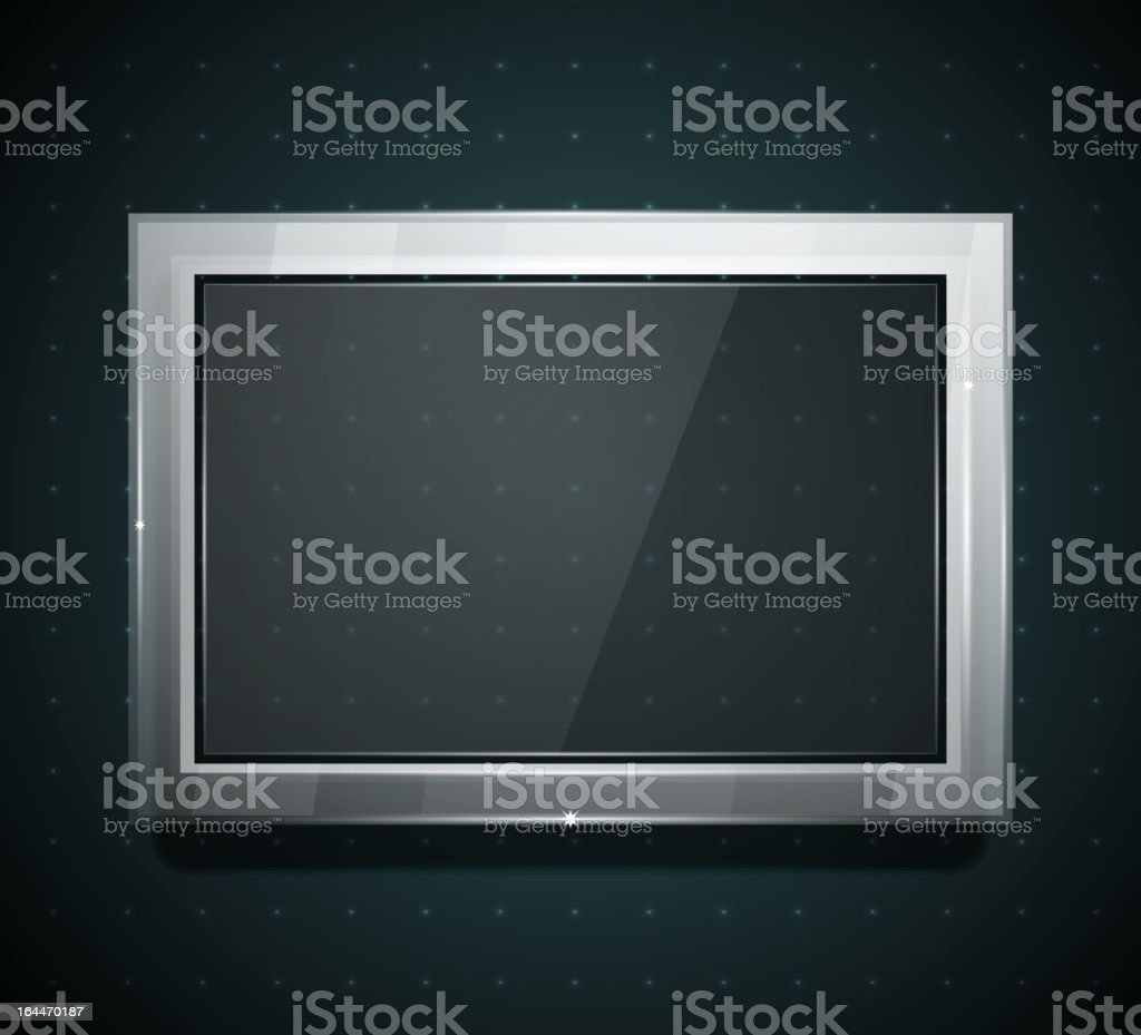 Vector glass screen royalty-free stock vector art