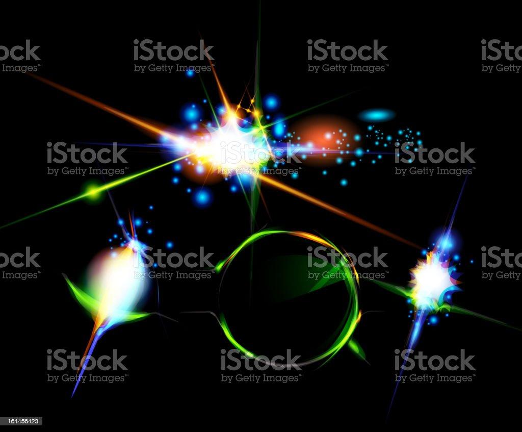 Vector glowing arrow background royalty-free stock vector art