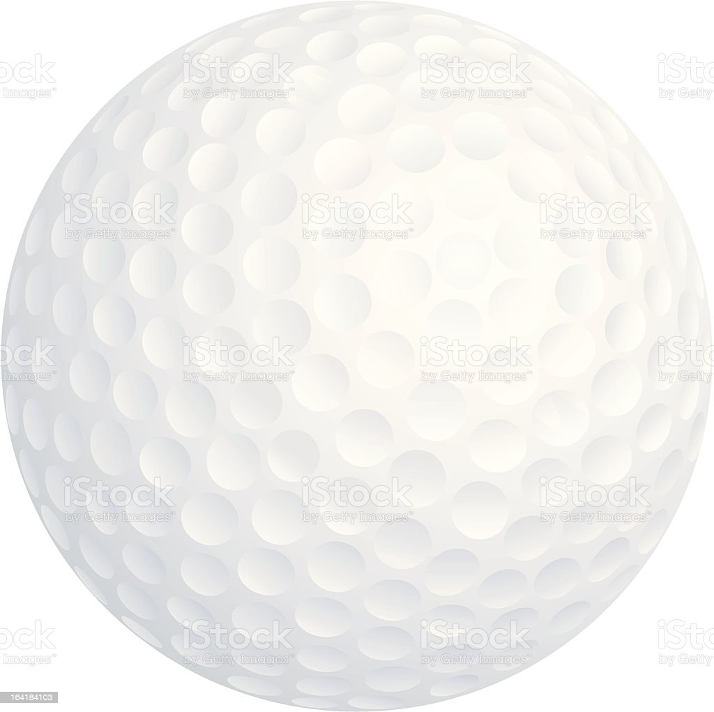 Vector Golf Ball isolated on white royalty-free stock vector art