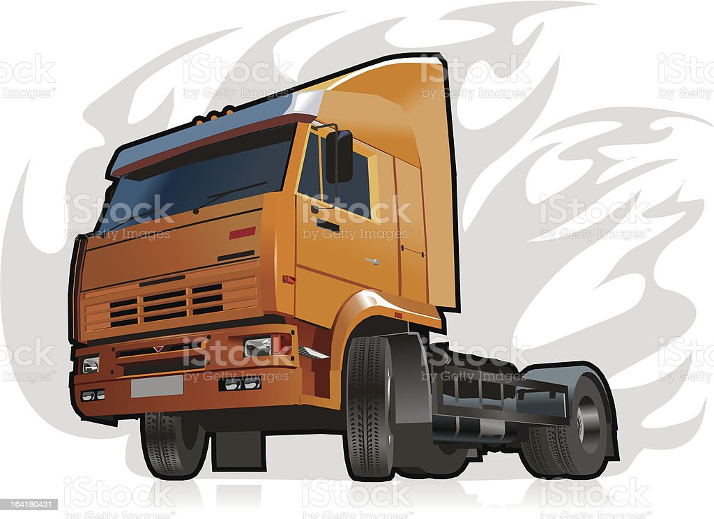 Vector heavy truck royalty-free stock vector art