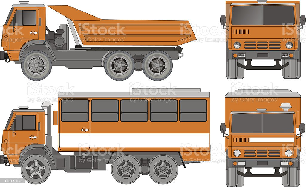 Vector heavy truck royalty-free stock vector art
