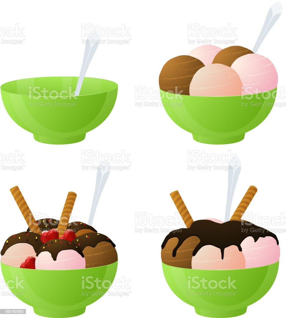 Vector ice cream vector art illustration