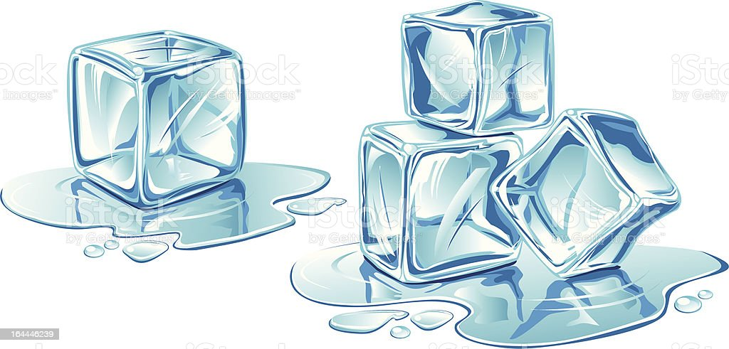 Vector ice-cubes on white background royalty-free stock vector art