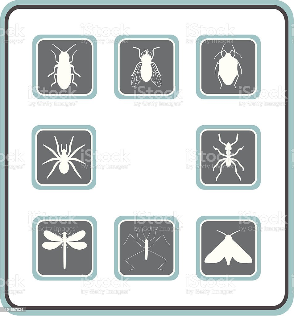 vector icon set 19: insect royalty-free stock vector art