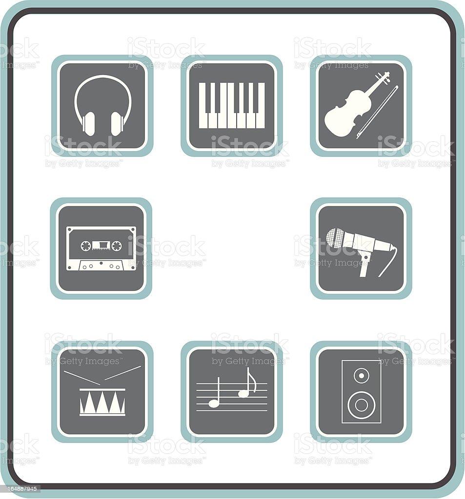 vector icon set 25: music 2 royalty-free stock vector art