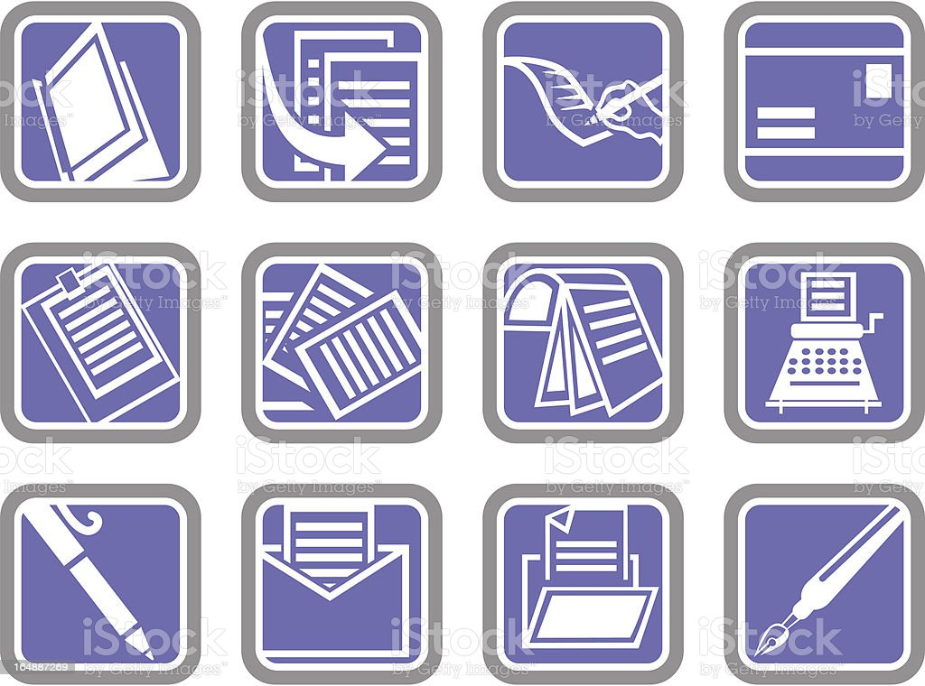 Vector Icons: Business royalty-free stock vector art