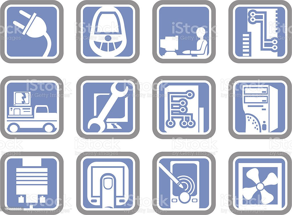 Vector Icons: Computer Technologies royalty-free stock vector art