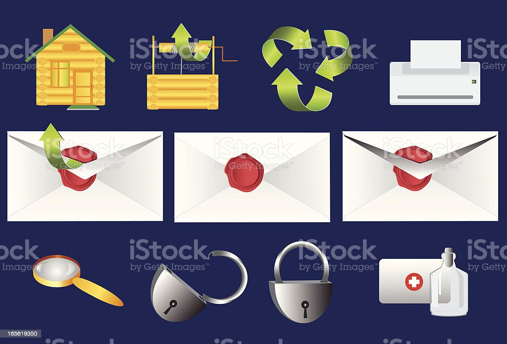 vector icons for web application royalty-free stock vector art