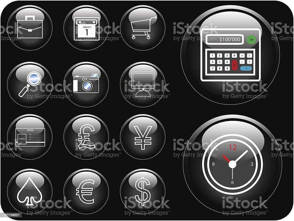 Vector Icons royalty-free stock vector art