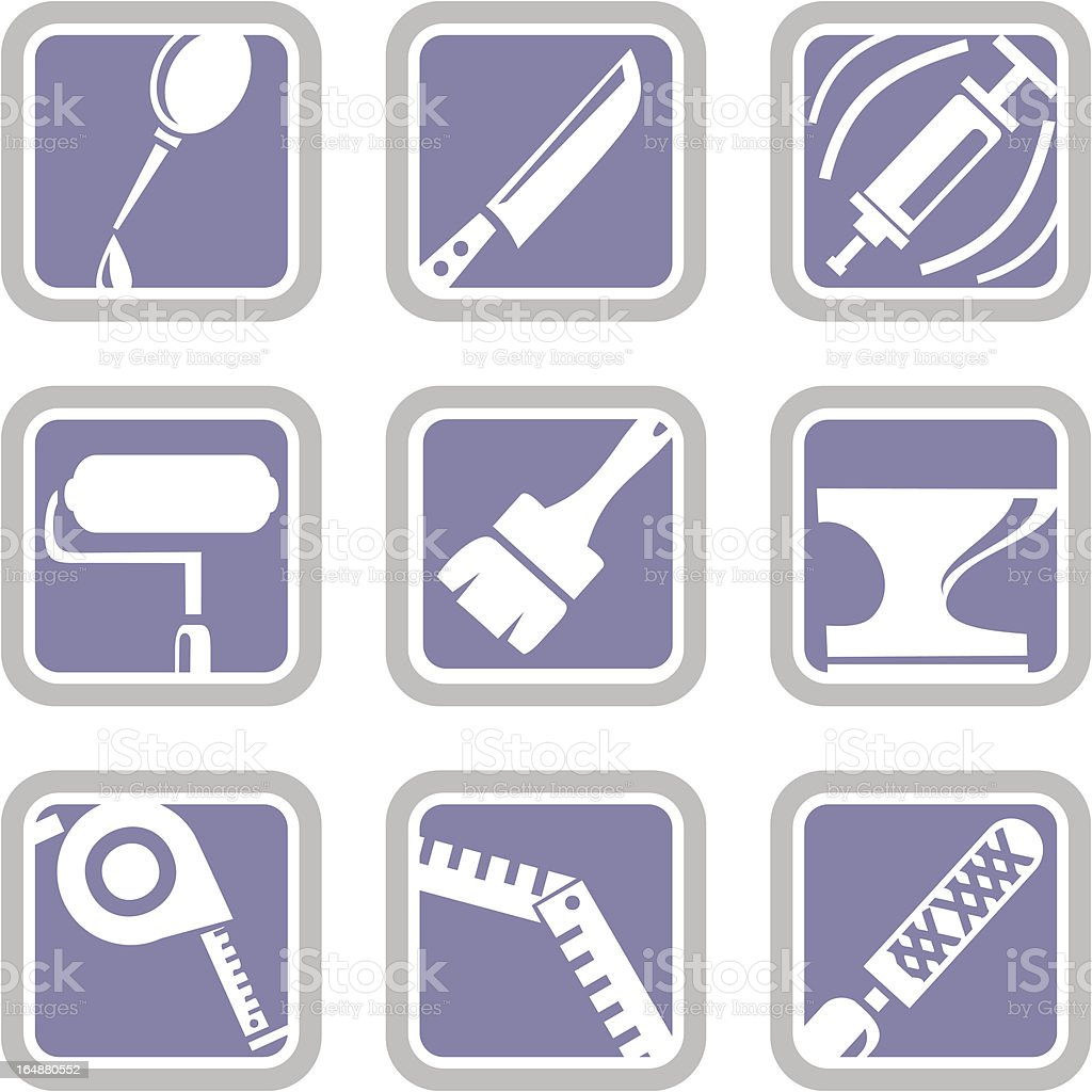Vector Icons: Tools vector art illustration