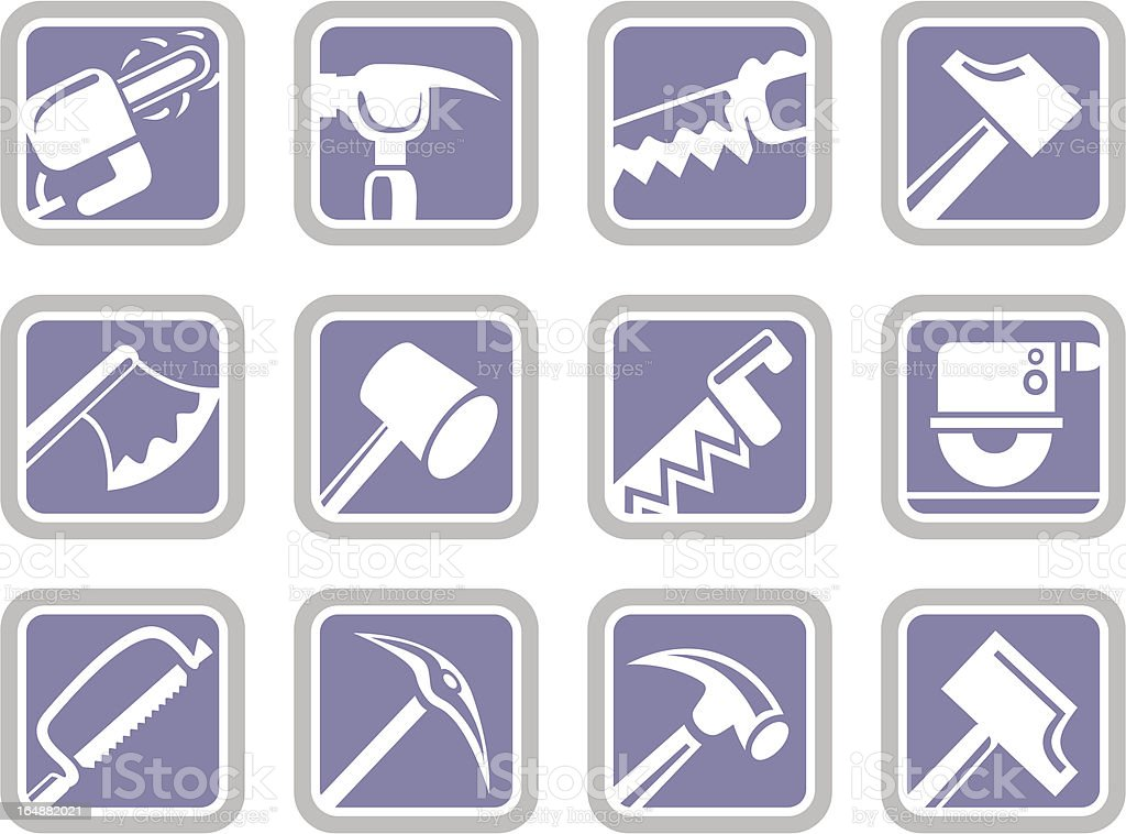 Vector Icons: Tools royalty-free stock vector art