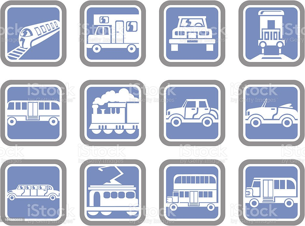 Vector Icons: Transportation Vehicles royalty-free stock vector art