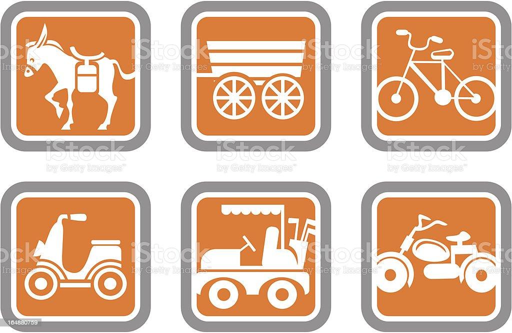 Vector Icons: Transportation Vehicles royalty-free stock vector art
