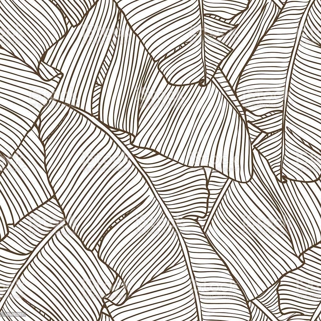 Vector illustration leaves of palm tree. Seamless pattern. vector art illustration