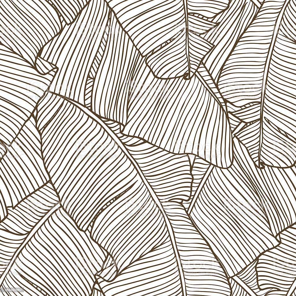 Vector illustration leaves of palm tree. Seamless pattern. vector art illustration