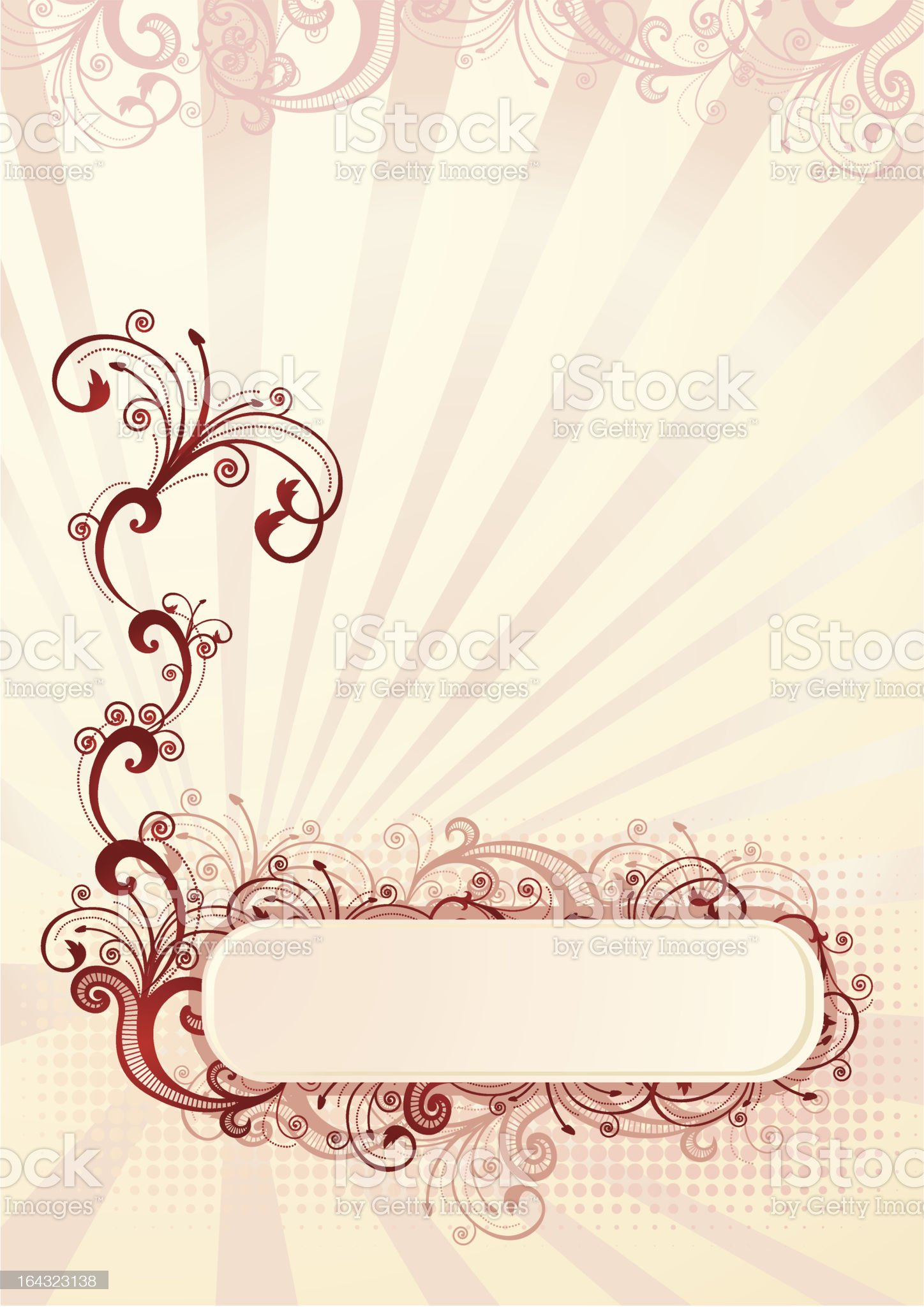 Vector illustration of an abstract floral frame royalty-free stock vector art