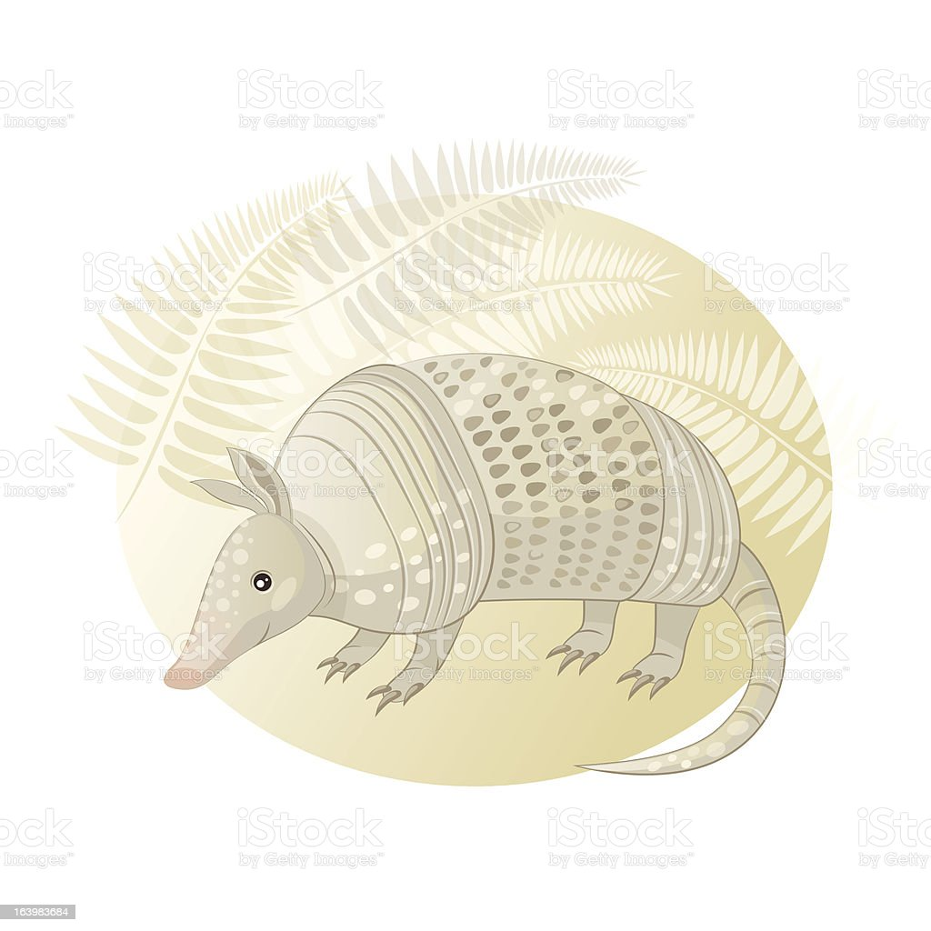 Vector illustration of armadillo royalty-free stock vector art