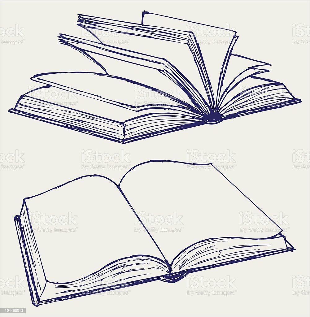 Vector illustration of books royalty-free stock vector art