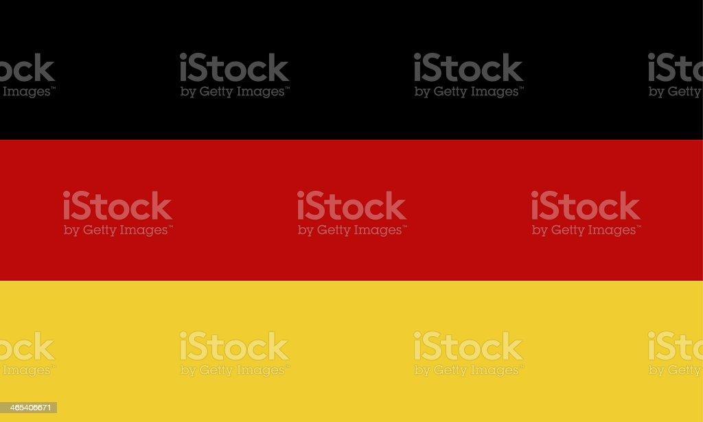 Vector illustration of modern-day German flag royalty-free stock vector art