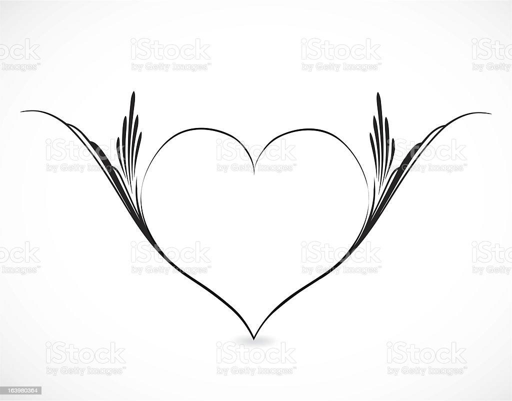 Vector illustration of ornamental heart royalty-free stock vector art