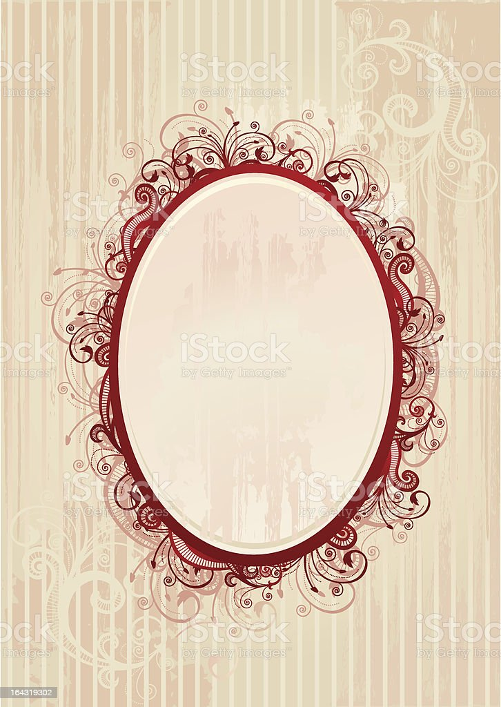 Vector illustration of romantic oval frame royalty-free stock vector art