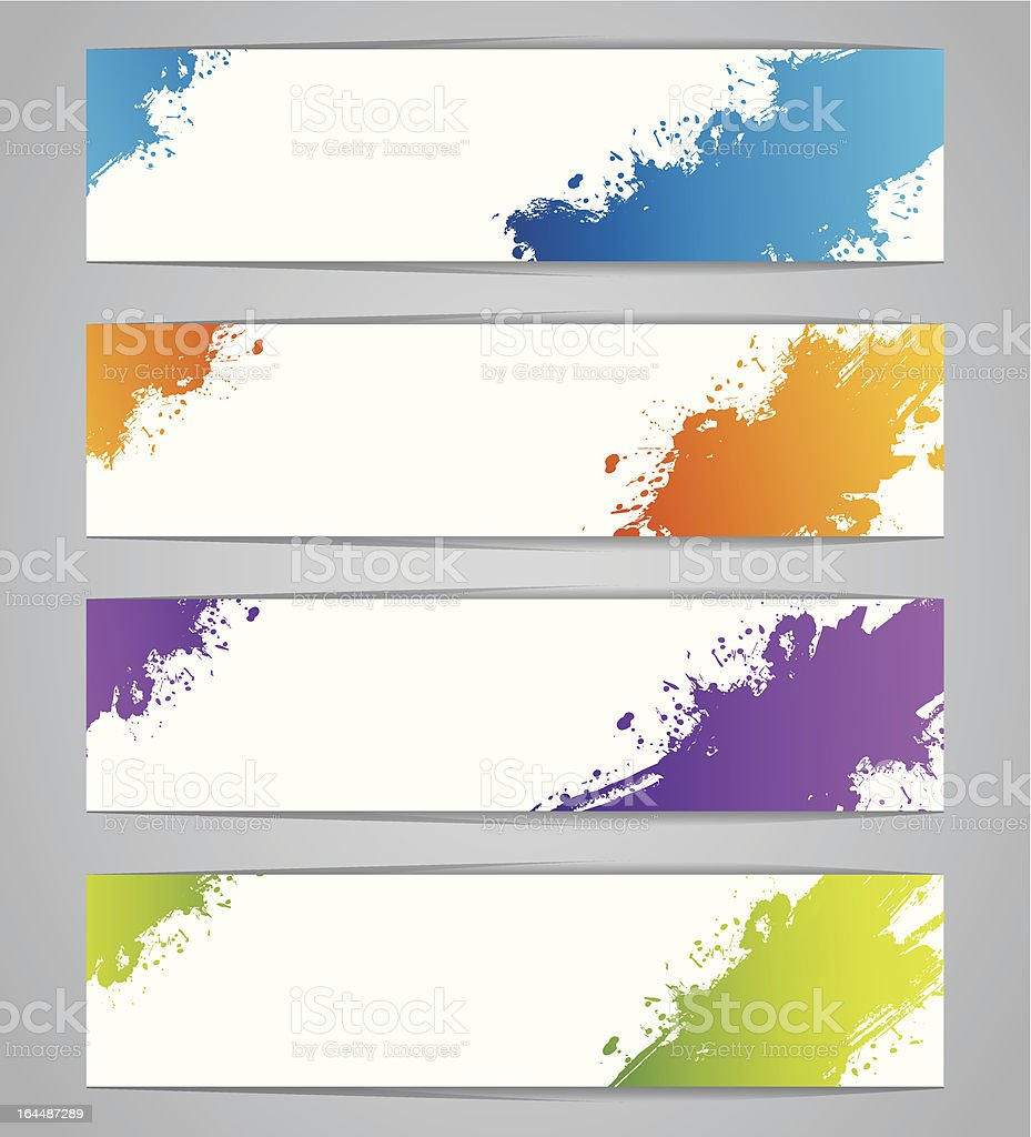 Vector illustration of Splash designs royalty-free stock vector art