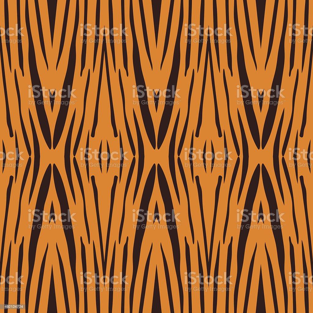 Vector illustration of tiger stripe pattern vector art illustration