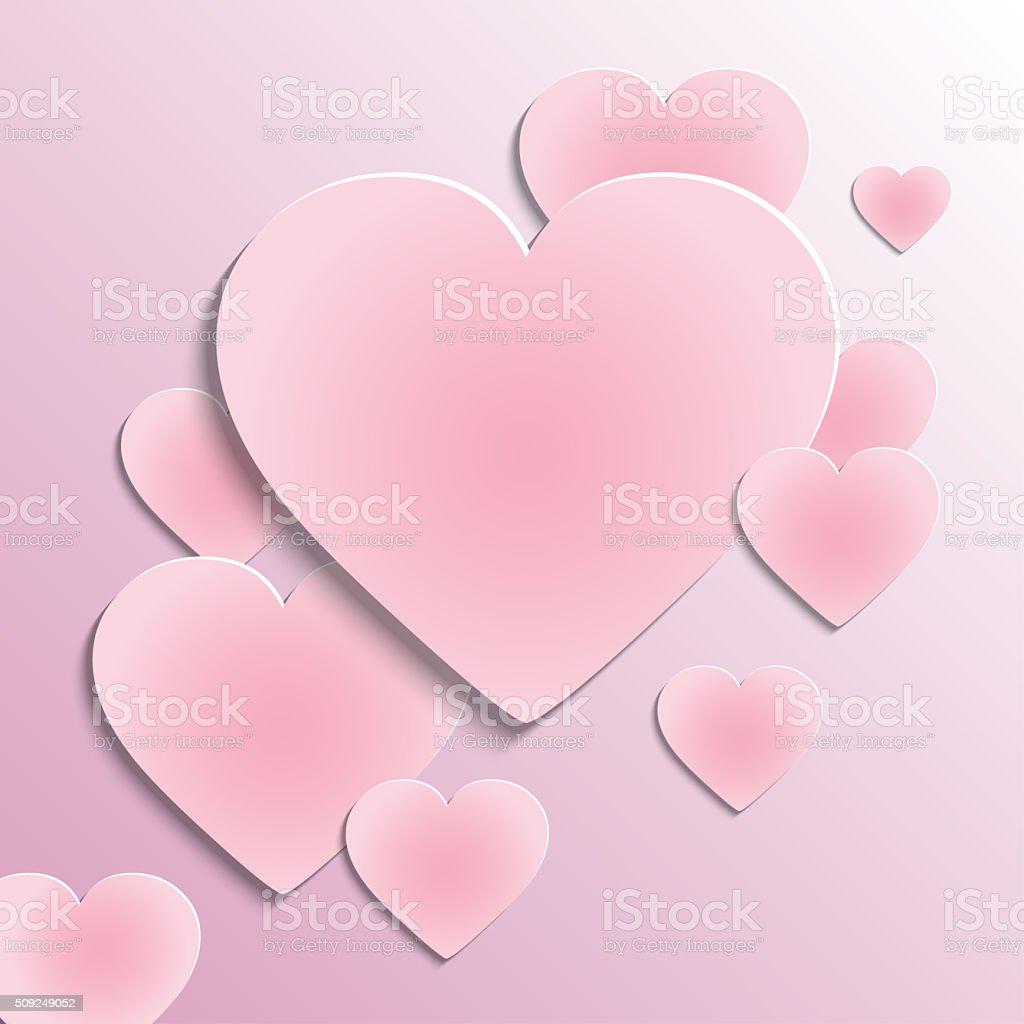 Vector illustration with pink background vector art illustration