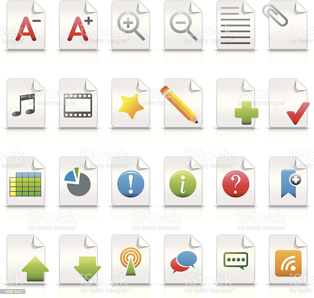 Vector Internet Icons (document concept) royalty-free stock vector art