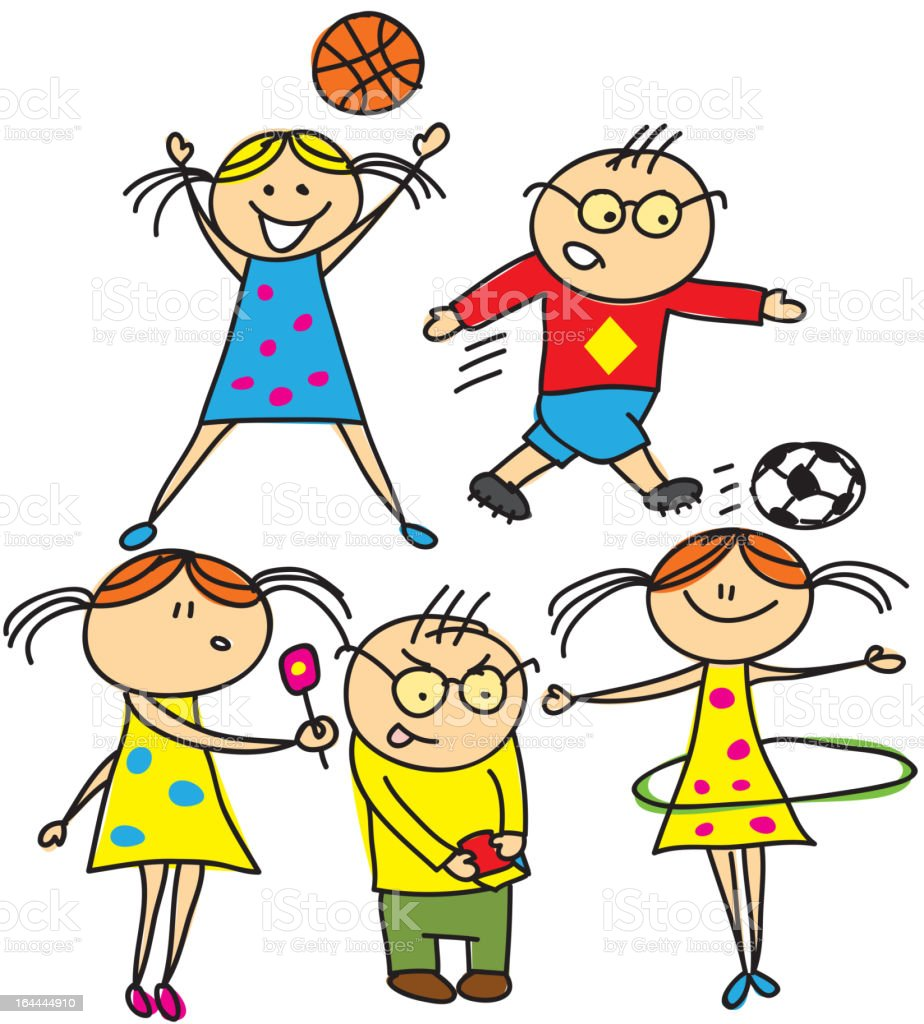 vector kids new style royalty-free stock vector art