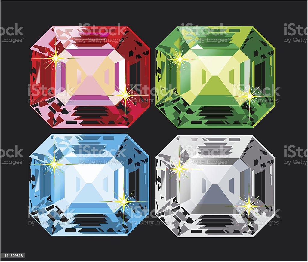 Vector kristall set royalty-free stock vector art