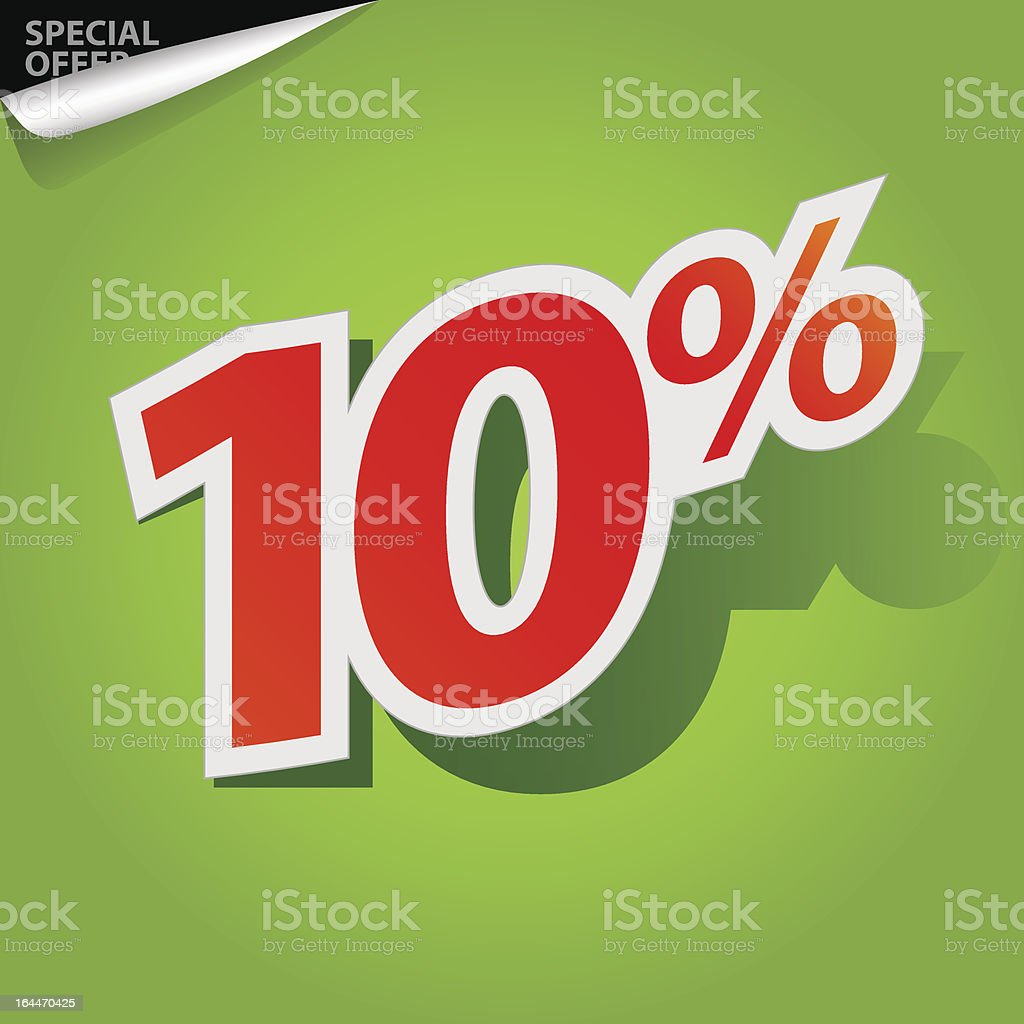 Vector label percent royalty-free stock vector art