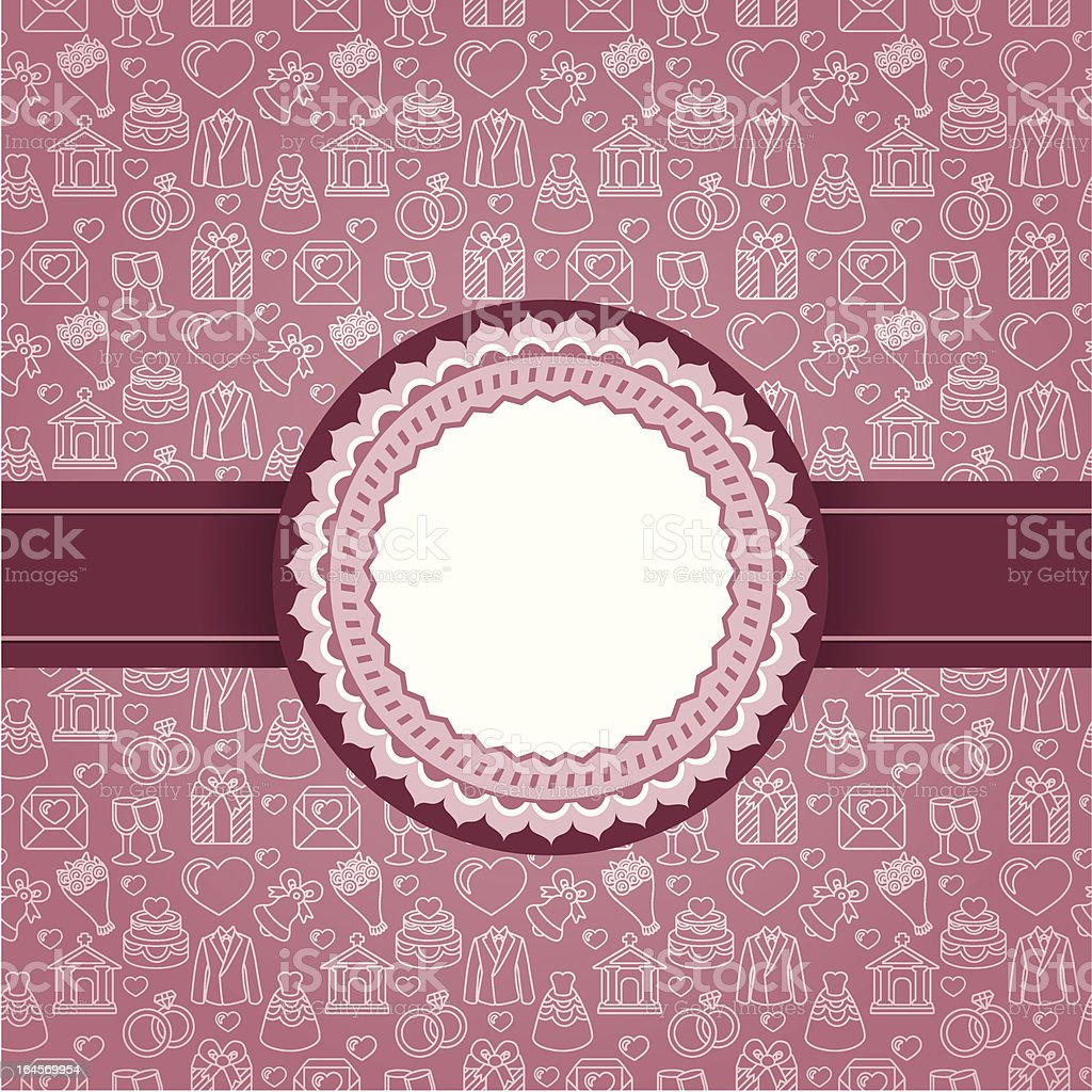 Vector love background with copy space royalty-free stock vector art
