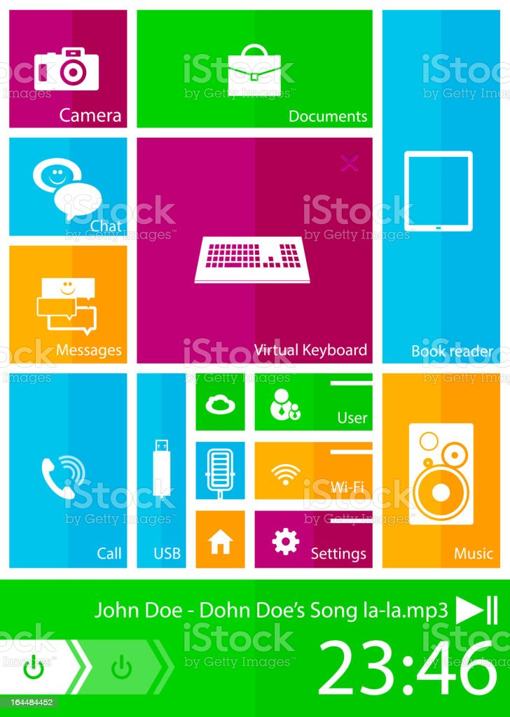 Vector mobile phone interface royalty-free stock vector art