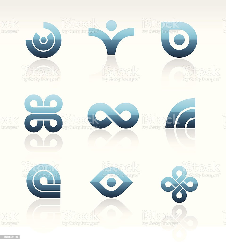 Vector Modern Logo Set vector art illustration