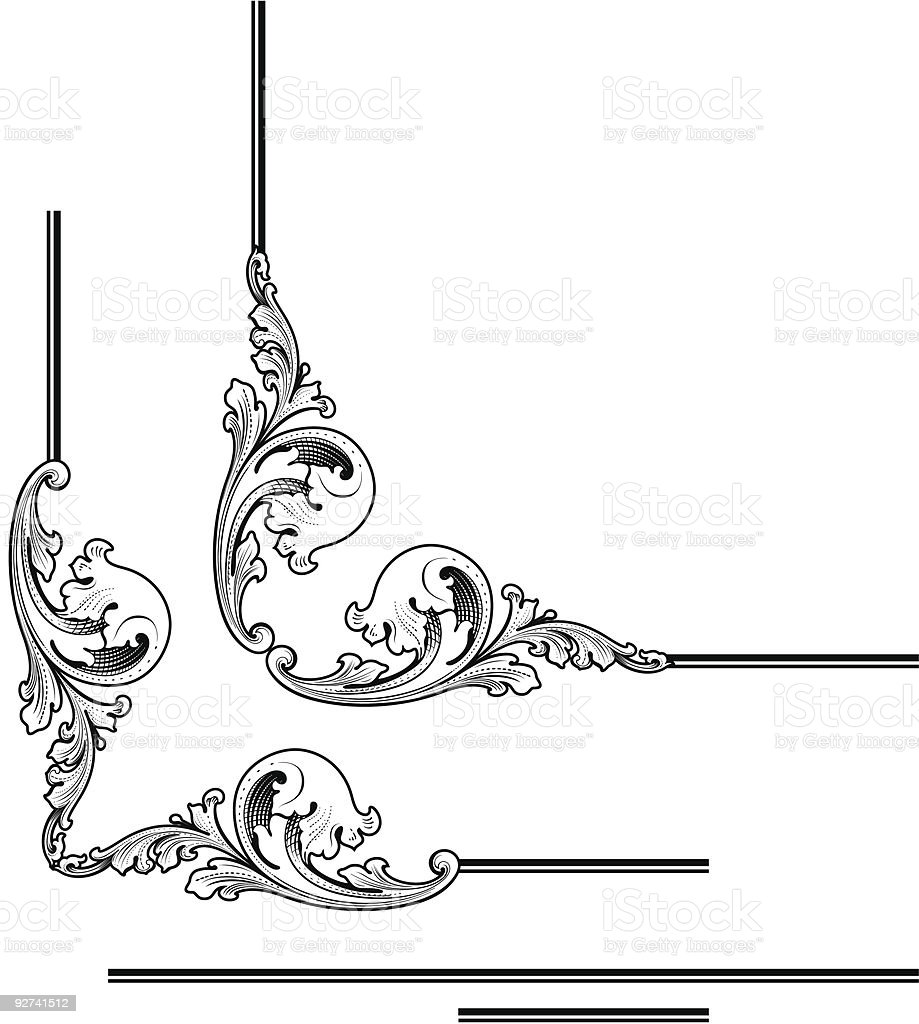 Vector Money Scroll royalty-free stock vector art