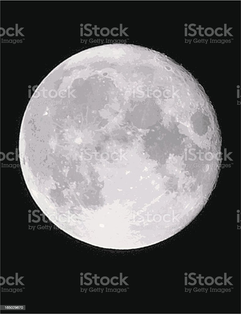 Vector Moon vector art illustration