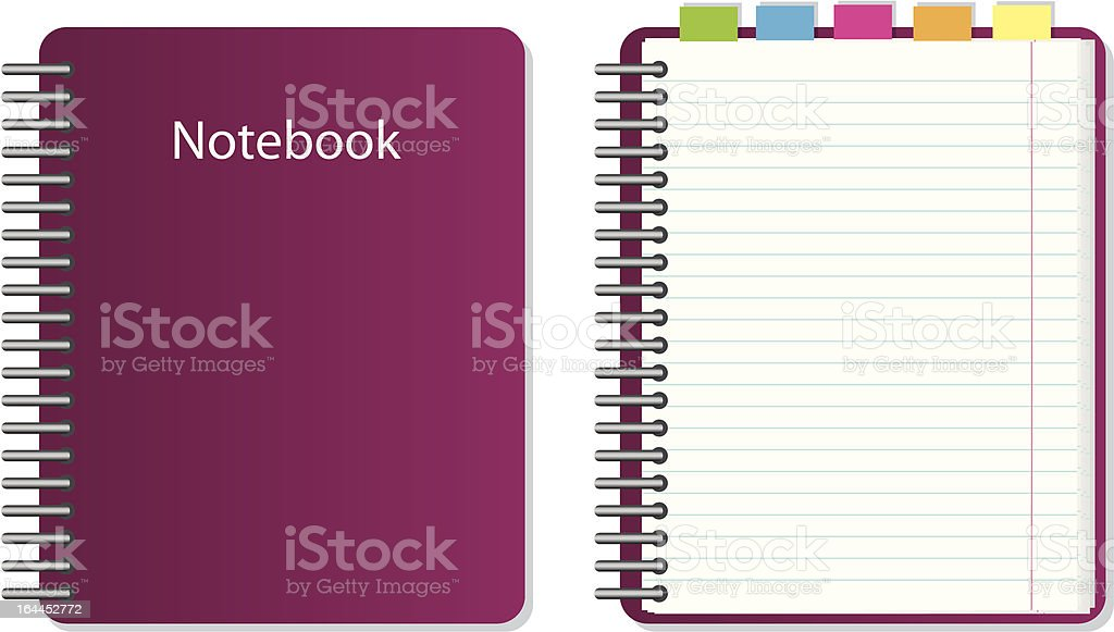 vector notebook royalty-free stock vector art