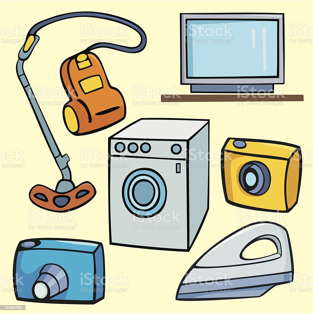 Vector Objects X: Household Appliances royalty-free stock vector art